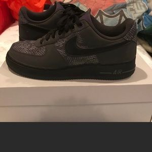 Nike Air Force 1 Anthracite black mens 9
